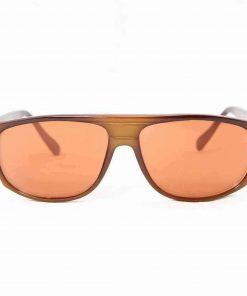 Alain Prost 458 Brown Sunglasses Flash Orange Lenses Anti-Reflex By Vuarnet Made in France