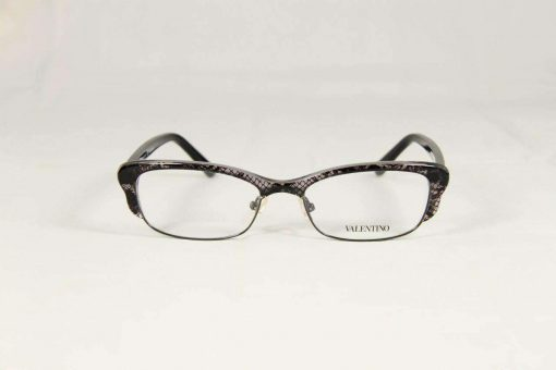 Valentino VAL 117 Gray Lace Eyeglasses