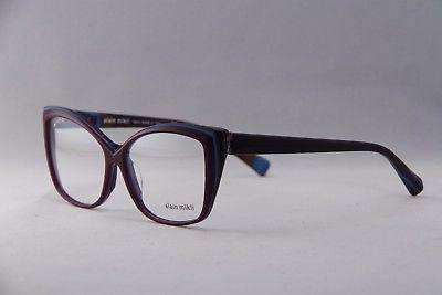 ab7dfc8fd3264 ALAIN MIKLI Eyeglasses A03011A Purple Blue Plastic Optical Frames ...
