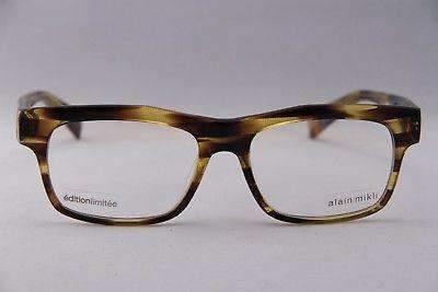 ALAIN MIKLI Eyeglasses AL1103 Honey Brown Plastic Optical Frames