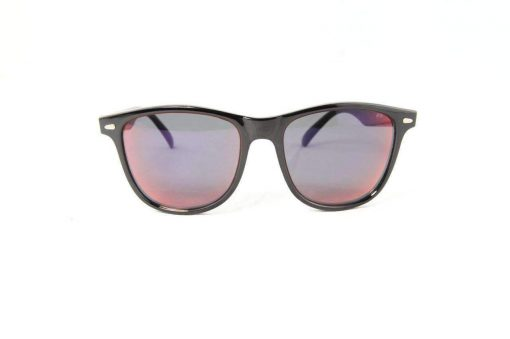 Alain Prost 031 Black Sunglasses PC Gray Lens Violet Anti-Reflective By Vuarnet Made in France