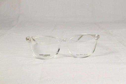 Saint Laurent SL38 Transparent Crystal Eyeglasses made in Italy