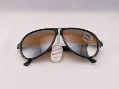 Vintage IXO 432 BLACK SUNGLASSES BROWN FLASH GRAY LENS MADE IN FRANCE