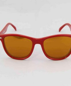 Alain Prost 031 Red Sunglasses Brown Flash Lenses Flash Gold By Vuarnet Made in France