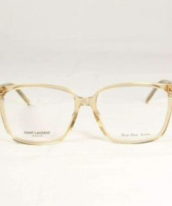 Saint Laurent SL48 Transparent Honey Eyeglasses made in Italy