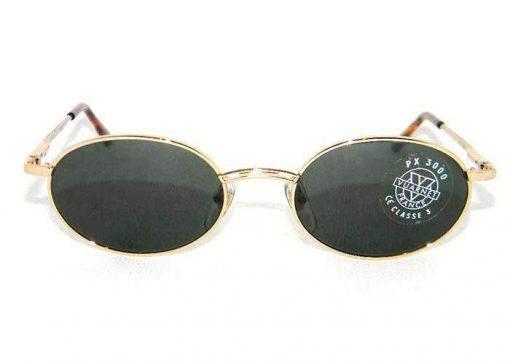 VUARNET Sunglasses 047 Gold Metal Frame PX3000 Gray Lens
