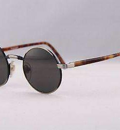Vintage IXO 375 SILVER BLACK METAL SUNGLASSES GRAY LENS MADE IN FRANCE