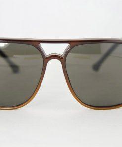No Name 117 Brown Sunglasses Aviator Plastic Gray Lens Look Like Vuarnet 117