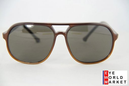 No Name 117 Brown Sunglasses Aviator Plastic Gray Lens Look Like Vuarnet 117