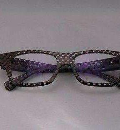 ALAIN MIKLI Eyeglasses AL1257 Brown Checked Plastic Optical Frames