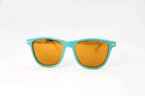 Alain Prost 031 Aqua Green Sunglasses PC Brown Lens Orange Anti-Reflective By Vuarnet Made in France