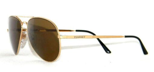 VUARNET   4036 PM Smal Gold   Sunglasses PX2000 Mineral Brown LENS