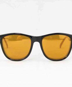 Alain Prost 031 Black Sunglasses PC Brown Flash Lenses External Anti-Reflex By Vuarnet Made in France