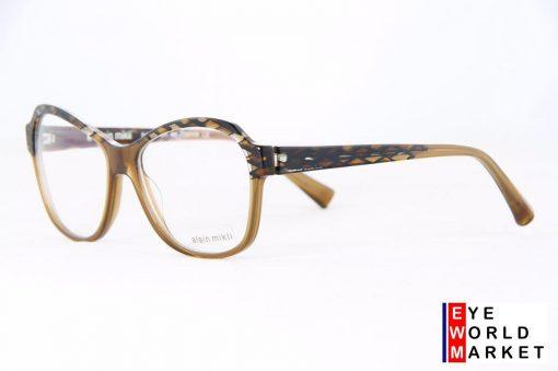 ALAIN MIKLI Eyeglasses 01261 Brown Plastic Optical Frames