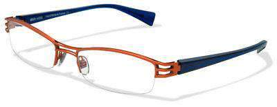 ALAIN MIKLI AL1106 ORANGE METAL PLASTIC EYEGLASSES