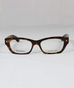 Saint Laurent 6333 Brown Tobacco Eyeglasses made in Italy