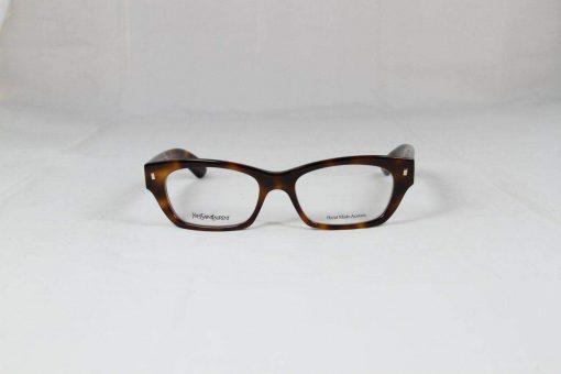 Saint Laurent 6333 Brown Tobacco Eyeglasses made in Italy