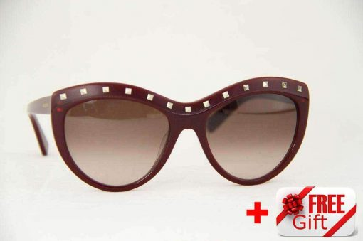 Valentino V617S Cat Eye Women's Sunglasses PC Gradual Brown Lens