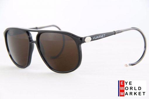 VUARNET 117 Black Sunglasses Cable Hook PX5000 Mineral Dark Brown Lens