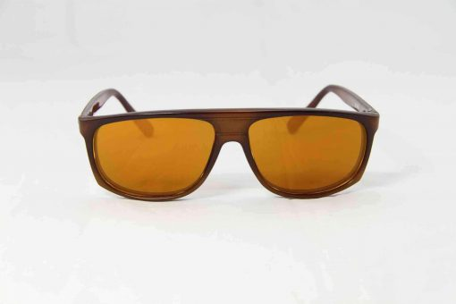Alain Prost 458 Brown Sunglasses Flash Gold Lenses Anti-Reflex By Vuarnet Made in France
