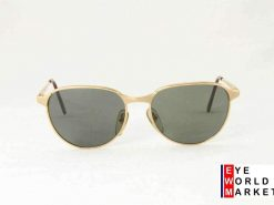 Vintage VUARNET 040 Gold Metal Sunglasses PX3000 brown lens