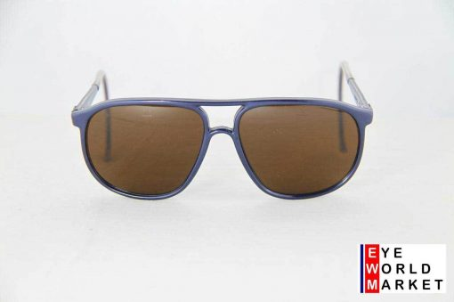 VUARNET Sunglasses 117 Blue Metal Cable Hook PX5000 MINERAL Brown Lens