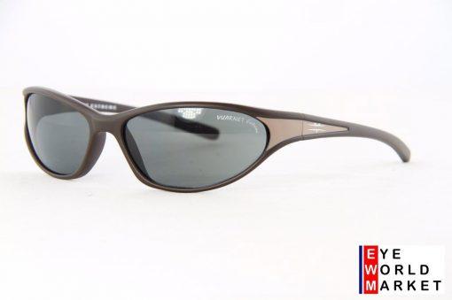 VUARNET 676E Sport Brown Sunglasses PC Gray Lens
