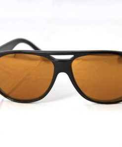 Alain Prost 462 Black Sunglasses PC Brown Lens, Gold External Anti-Reflective By Vuarnet Made in France