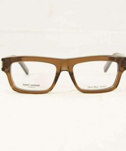 Saint Laurent YVES2 Brown Crystal Eyeglasses made in Italy
