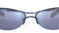 VUARNET 807E Men Women Blue Matte Sunglasses PC Gray Red Flash LENS