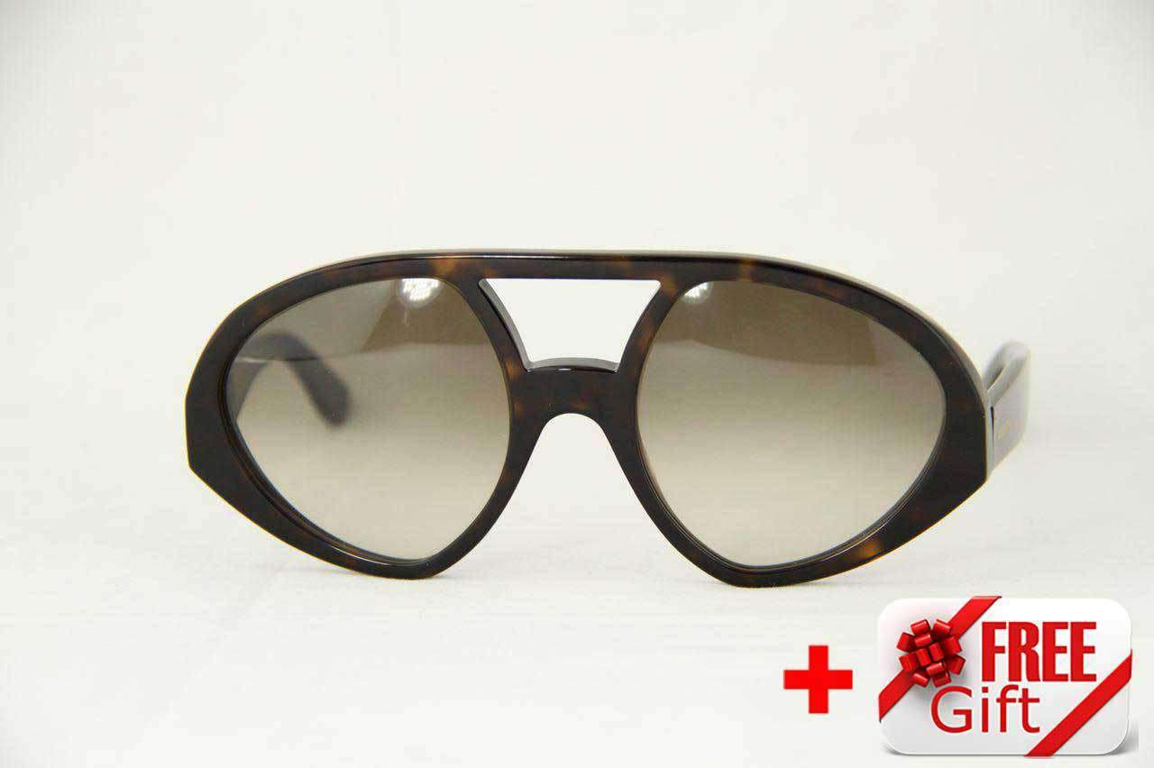 2b8bfcf55abc Valentino V708S Dark Havana Women s Sunglasses PC Gradual Brown Lens ...