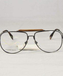 Alexander McQueen Eyeglasses AMQ 4204 Gray Metal / Wood
