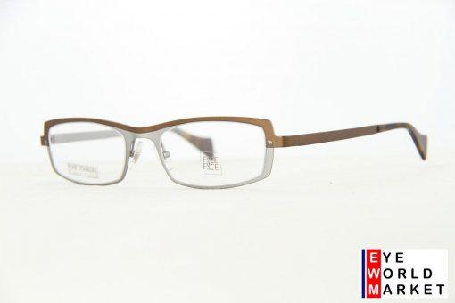 Face A Face Eyeglasses Level Brown Silver Col 921 Optical Frames
