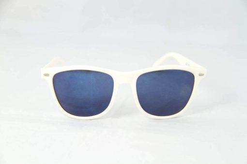 Alain Prost 031 White Sunglasses Gray Anti-Reflective Blue Lenses By Vuarnet Made in France
