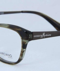Guess GM 201 Women Eyeglasses Khaki Brown Acetate & Metal Frame