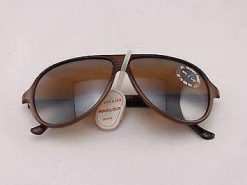 Vintage IXO 432 BROWN SUNGLASSES BROWN FLASH GRAY LENS MADE IN FRANCE