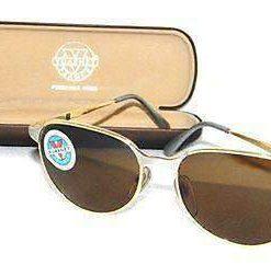 Vintage VUARNET 040 Gold & Silver Retro Sunglasses PX2000 brown lens