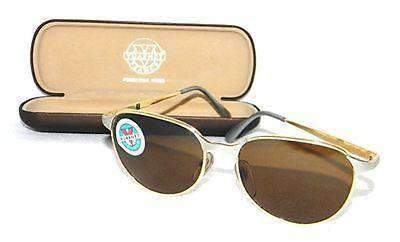 Vintage VUARNET 040 Gold & Silver Retro Sunglasses PX2000 brown lens