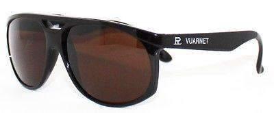 VUARNET Sunglasses 462 Large Black PX5000 MINERAL Brown Lens