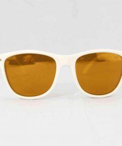 Alain Prost 031 White Sunglasses Brown Flash Lenses External Anti-Reflex By Vuarnet Made in France