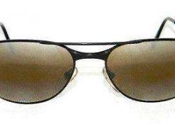 Vintage VUARNET 042 Black  Sunglasses SKILYNX Mineral BROWN lens