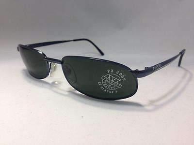 Vintage VUARNET 154  BLUE Sunglasses PX3000 Gray Mineral lens