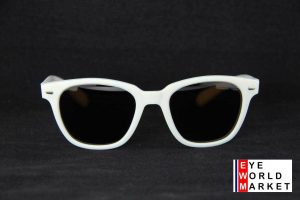 Vuarnet 088 White Sunglasses PX5000 Mineral Brown Lens