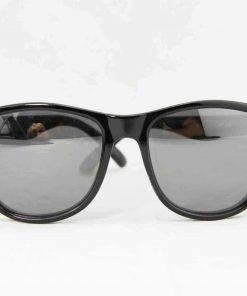 Alain Prost 031 Black Sunglasses PC Gray Flash Lenses External Anti-Reflex By Vuarnet Made in France