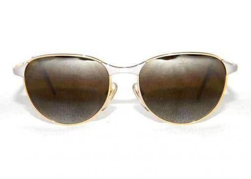 VUARNET Sunglasses 040 Gold Silver Metal Frame PX3000 Gray Lens
