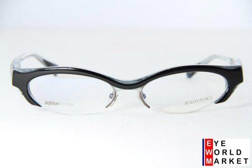 ALAIN MIKLI Eyeglasses AL1256 Black PLASTIC Optical Frames
