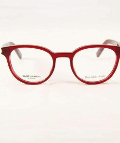 Saint Laurent CLASSIC10 Red Plastic Eyeglasses made in Italy