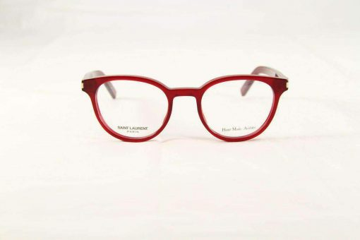 Saint Laurent CLASSIC10 Red Plastic Eyeglasses made in Italy