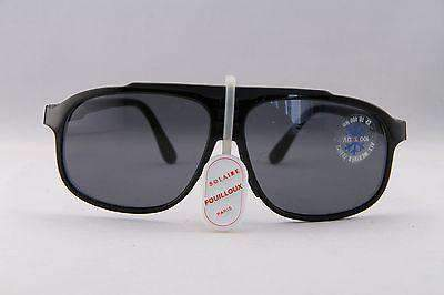 Vintage  IXO 466 G BLACK SUNGLASSES GRAY LENS MADE IN FRANCE