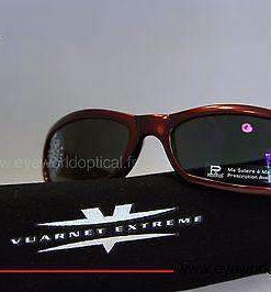 VUARNET 111 Burgundy Sunglasses PX3000 Mineral Gray lens